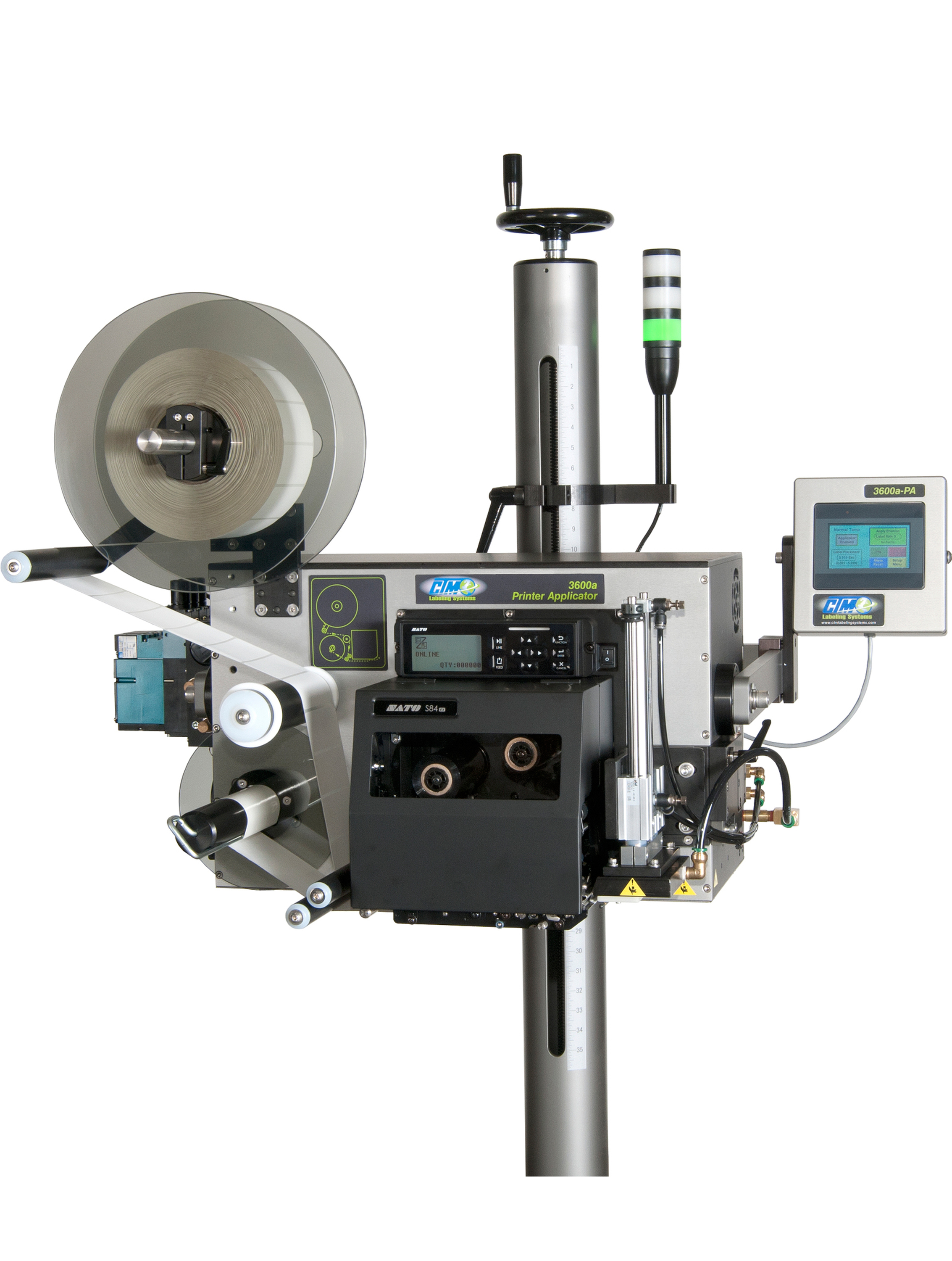 CTM Labeling Systems' 3600a-PA Printer Applicator