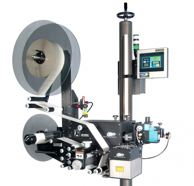 Product still of the 360a series High Speed Label Applicator from CTM Labeling Systems