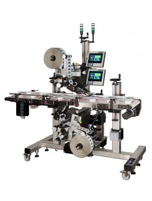 CTM Labeling Systems' Top Bottom Split Conveyor